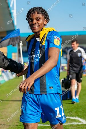 Gillingham FC midfielder Regan Charles-Cook (11) after  the EFL Sky Bet League 1 match between Gillingham and Plymouth Argyle at the MEMS Priestfield Stadium, Gillingham