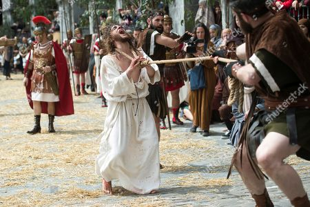 Editorial image of Good Friday procession in Cantabria, Castro Uridales, Spain - 19 Apr 2019