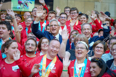 Editorial image of Celebration for Special Olympics athletes, Brussels, Belgium - 19 Apr 2019