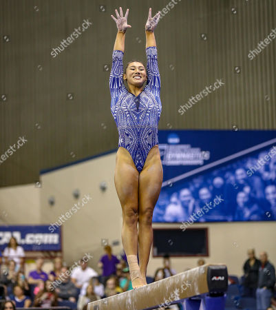 UCLA's Kyla Ross performs on the balance beam during the NCAA Women's National Collegiate Gymnastics Championship Semi-Final 1 at the Fort Worth Convention Center in Fort Worth, TX