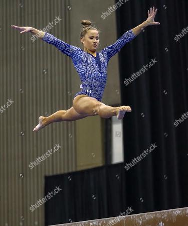 Editorial image of NCAA Gymnastics 2019 Women's National Championships Semi-Final 1, Fort Worth, USA - 19 Apr 2019