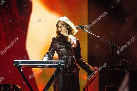 Nina Kraviz performs at the Coachella Music & Arts Festival at the Empire Polo Club, in Indio, Calif