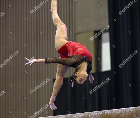 Georgia's Sabrina Vega performs on the balance beam during the NCAA Women's National Collegiate Gymnastics Championship Semi-Final 2 at the Fort Worth Convention Center in Fort Worth, TX