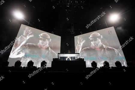 Stock Picture of DJ Snake performs on stage during the Coachella Valley Music and Arts Festival in Indio near Palm Springs, California, USA, 19 April 2019 (issued 20 April 2019). The festival runs from 12 to 21 April 2019.