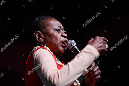 Calypso Rose performs on stage during the Coachella Valley Music and Arts Festival in Indio, near Palm Spring, California, USA, 19 April 2019. The festival will run from 12 April to 21 April 2019.