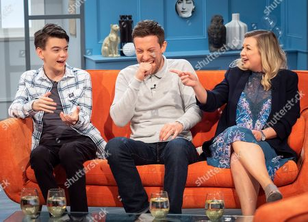 Milo Parker, Rosie Ramsey and Chris Ramsey