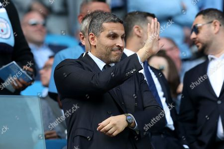 Manchester City Chairman Khaldoon Al Mubarak in the stands before