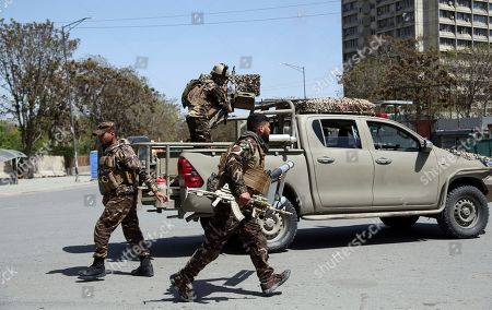 Security forces in gunfight with insurgents, Kabul