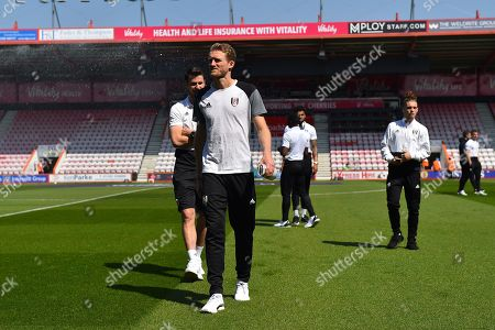 Andre Schurrle (14) of Fulham walking on the pitch on arrival before the Premier League match between Bournemouth and Fulham at the Vitality Stadium, Bournemouth