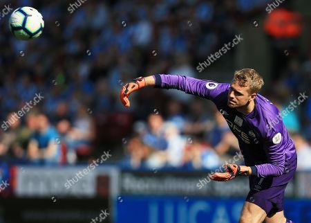 Huddersfield Town goalkeeper Jonas Lossl