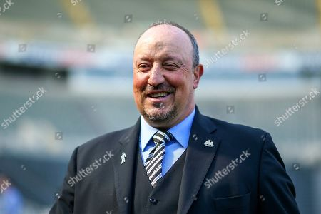 Newcastle United manager Rafael Benitez arrives ahead of the Premier League match between Newcastle United and Southampton at St. James's Park, Newcastle