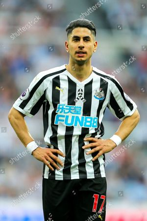 Ayoze Perez (#17) of Newcastle United who scored a hat-trick during the Premier League match between Newcastle United and Southampton at St. James's Park, Newcastle