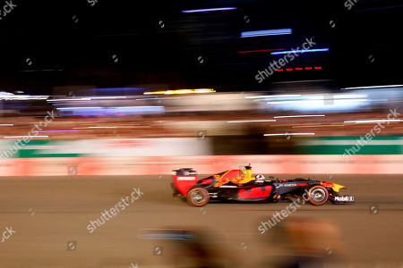 A Red Bull Racing Formula One race car in action during an event in Hanoi, Vietnam, 20 April 2019. The Formula One Vietnam Grand Prix kick-off event which featured live performance of former British Formula One driver David Coulthard at My Dinh stadium has attracted thousands of people and fans. Vietnam will be the 22nd country in the world to be hosting a Formula One Grand Prix.