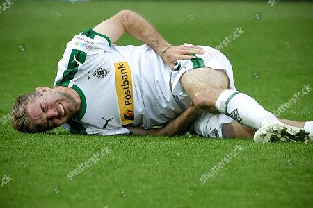 Moenchengladbach's Christoph Kramer reacts during the German Bundesliga soccer match between Borussia Moenchengladbach and RB Leipzig at Borussia-Park in Moenchengladbach, Germany, 20 April 2019.