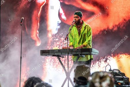 Stock Image of Serpentwithfeet, Josiah Wise. Serpentwithfeet performs at the Coachella Music & Arts Festival at the Empire Polo Club, in Indio, Calif