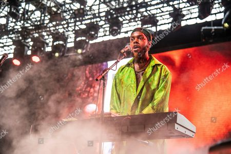 Stock Photo of Serpentwithfeet, Josiah Wise. Serpentwithfeet performs at the Coachella Music & Arts Festival at the Empire Polo Club, in Indio, Calif