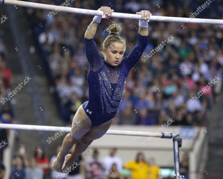 Editorial picture of NCAA Gymnastics 2019 Women's National Championships Finals, Fort Worth, USA - 20 Apr 2019