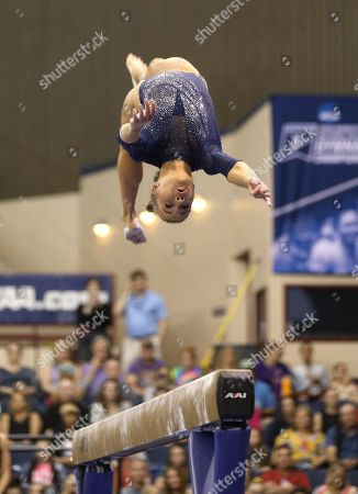 Editorial photo of NCAA Gymnastics 2019 Women's National Championships Finals, Fort Worth, USA - 20 Apr 2019