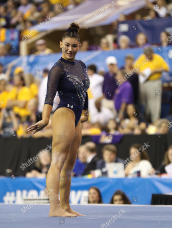 UCLA's Kyla Ross performs on the floor during the NCAA Women's National Collegiate Gymnastics Championship Finals at the Fort Worth Convention Center in Fort Worth, TX