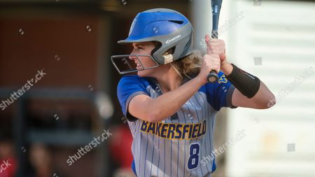 CSU Bakersfield's Katie Jackson waits for a pitch during an NCAA softball game against Seattle University on in Seattle