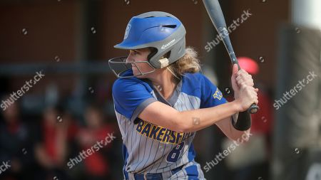 Stock Photo of CSU Bakersfield's Katie Jackson waits for a pitch during an NCAA softball game against Seattle University on in Seattle