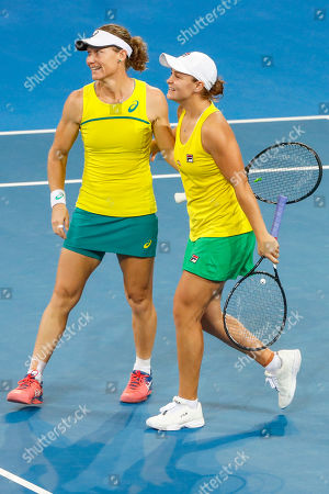 Editorial image of Fed Cup tennis tournament in Brisbane, Australia - 21 Apr 2019