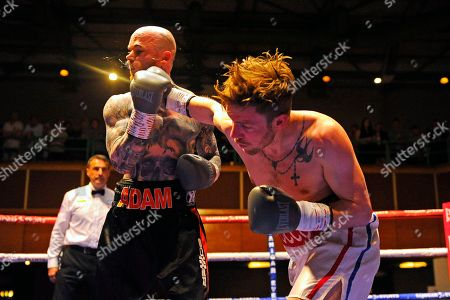 Editorial image of Sanigar Events Show, Boxing, Riviera International Conference Centre, Torquay, Devon, United Kingdom - 20 Apr 2019