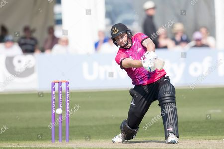 Luke Wright of Sussex CCC absolutely flays the ball through cover for four during Kent Spitfires vs Sussex Sharks, Royal London One-Day Cup Cricket at The Kent County Cricket Ground, Beckenham on 21st April 2019