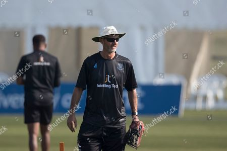 Jason Gillespie, Head Coach, Susses CCC during Kent Spitfires vs Sussex Sharks, Royal London One-Day Cup Cricket at The Kent County Cricket Ground, Beckenham on 21st April 2019