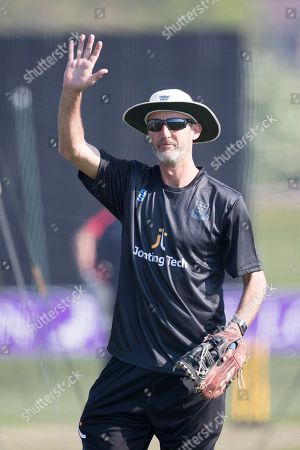 Stock Picture of Jason Gillespie, Head Coach, Sussex CCC during Kent Spitfires vs Sussex Sharks, Royal London One-Day Cup Cricket at The Kent County Cricket Ground, Beckenham on 21st April 2019