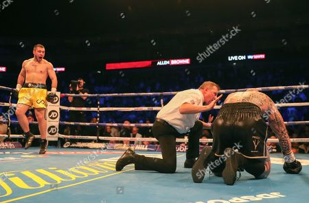 David Allen (England)  beats Lucas Browne (Australia) on two in 4th round