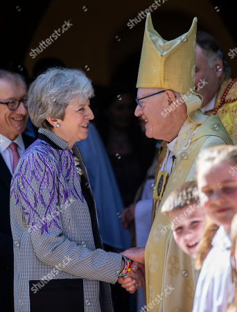 Editorial photo of Prime Minister Theresa May Attends Church, Maidenhead, UK - 21 Apr 2019