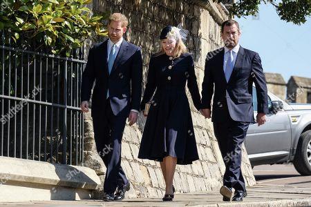 Prince Harry, Autumn Phillips, Peter Phillips