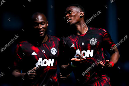 Paul Pogba of Manchester United and Romelu Lukaku of Manchester United