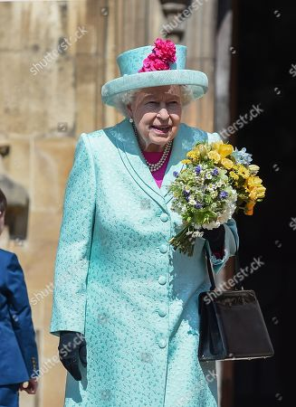 Editorial picture of Easter Sunday service, St George's Chapel, Windsor, UK - 21 Apr 2019