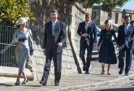 Princess Anne, Prince Harry, Tim Laurence, Autumn Phillips and Peter Phillips