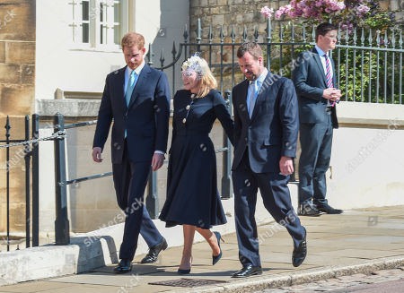 Prince Harry, Autumn Phillips and Peter Phillips