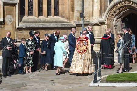 Prince Edward, James Viscount Severn, Lady Louise Windsor, Sophie Countess of Wessex, Peter Phillips, Autumn Phillips, Prince Harry, Zara Tindall, Mike Tindall, Catherine Duchess of Cambridge, Prince William