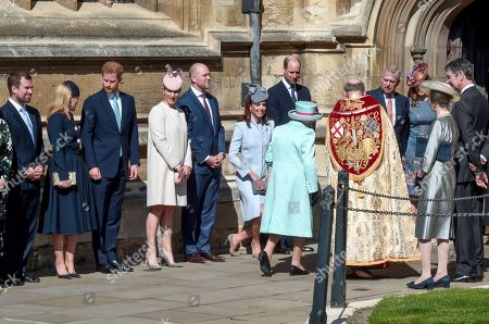Peter Phillips, Autumn Phillips, Prince Harry, Zara Tindall, Mike Tindall, Catherine Duchess of Cambridge, Prince William