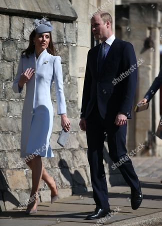 Stock Picture of Catherine Duchess of Cambridge and Prince William