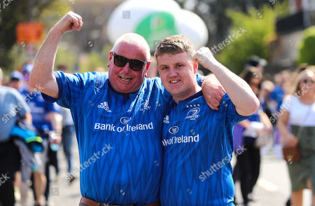 Leinster vs Toulouse. Leinster fans Michael Clinton and Jamie Bradagen from Drogheda