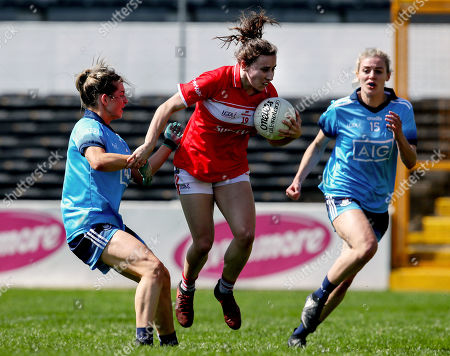 Cork vs Dublin. Dublin's Martha Byrne and Melissa Duggan of Cork