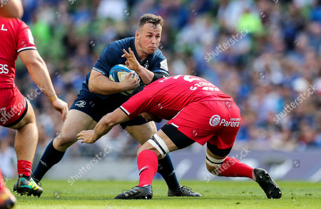 Leinster vs Toulouse. Leinster's Ed Byrne with Francois Cros of Toulouse