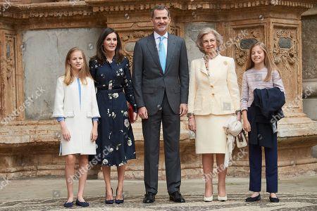 Spanish Royal Family attend mass, Palma De Mallorca