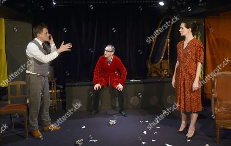 Stock Photo of Christophe Barbier, Chloe Lambert, Pierre Val.