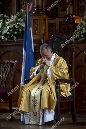 The auxiliary bishop of Managua, Monsignor Silvio Baez, officiates an Easter homily in Managua, Nicaragua, 21 April 2019. The Nicaraguan bishop Silvio Baez, a fierce critic of the government of Daniel Ortega in the context of the crisis that Nicaragua has been experiencing for a year and that has left hundreds dead, pleaded for always being on the side of the victims and defending life and human dignity.
