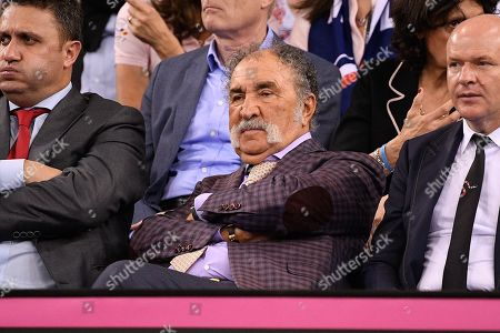 Former player Ion Tiriac during the match