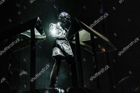 Gesaffelstein performs at the Coachella Music & Arts Festival at the Empire Polo Club, in Indio, Calif