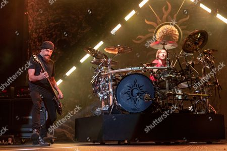 Editorial picture of Godsmack in concert at Fiserv Forum, Milwaukee, Wisconsin, USA - 20 Apr 2019