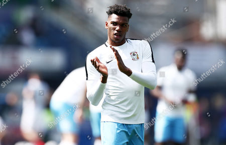 Dujon Sterling of Coventry City applauds the fans.
